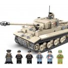 Germany Panzerkampfwagen VI Ausf. E Tiger I Tank building block Toy Compatible Lego WW2 Tank