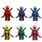 6pcs Deadpool Super Heroes Minifigures Lego Compatible Toy