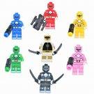 7pcs Power Rangers Minifigures Lego Compatible Comic Toy