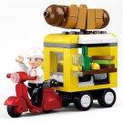 Hot Dog Buffet Car Minifigures Lego Compatible city Sets