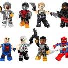 Dr. Nemesis Machairodus Lucas Bishop Bushwacker Minifigures Lego Compatible Super Heroes Toy