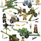 WW2 USSR Howitzer Antitank cannon soldier Minifigures Lego Compatible Toy