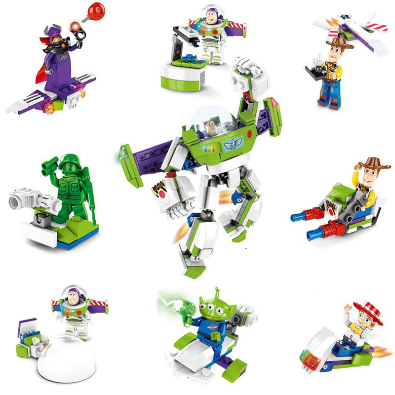 8in1 Toy Story building block Buzz Lightyear Woody Minifigures Lego Compatible Toy
