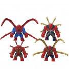 4pcs Big Spider-Man Minifigures Lego Compatible Spider-Man movie 2019