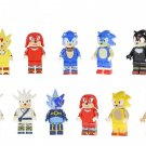 Japan Comic Knuckles silver The Hedgehog Tails Minifigures Lego Compatible Toy