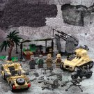 WW2 British Troops Base Antiaircraft gun soldiers Minifigures Lego Compatible Toy