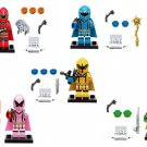 5pcs Power Rangers Minifigures Lego Compatible movie Toy