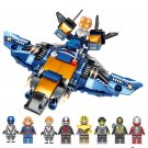 8in1 Avengers Ultimate Quinjet Super Heroes Minifigures Lego Compatible Toy
