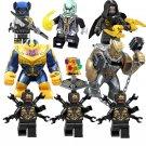 Thanos Black Order Corvus Glaive Proxima Midnight Minifigures Lego Compatible Avengers set