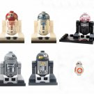 R2D2 BB8 Robot Minifigures Lego Compatible Star Wars Toy