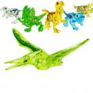 6pcs Transparent Dinosaur building block Toy Lego Minifigures Compatible