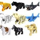 9pcs Animal sets Minifigures leopard horse shark building block Lego Compatible Toy