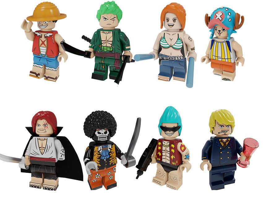 2019 One Piece D. Luffy Zoro Nami Minifigures Lego Compatible Toy