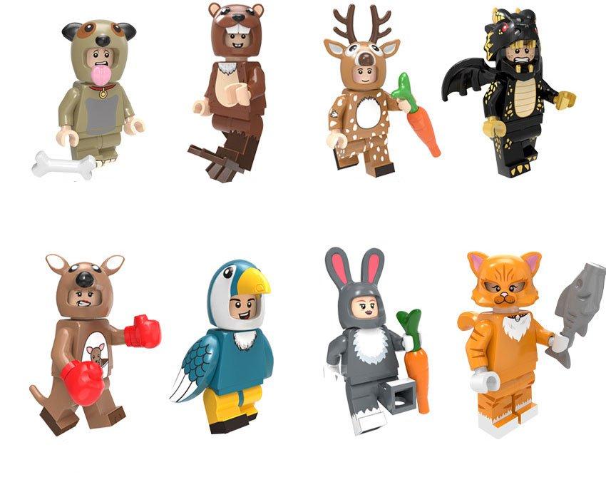 8pcs Animal Man Minifigures Lego Compatible Minifigure sets