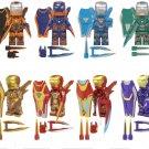 8pcs New Iron Man MK1616 MK50 MK36 MK27 Minifigures Lego Compatible Toy