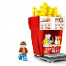 French fries shop building block Toy Lego Minifigures Compatible city set