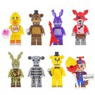 Chica Freddy Bunny Foxy Spintraft Minifigures Lego Compatible Five Nights At Freddy's