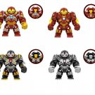 4pcs Big Hulkbuster Iron Man Minifigures Lego Compatible Toy