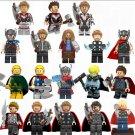 19pcs Thor Minifigures Lego Compatible Avengers Thor 2019