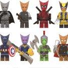 Groot Batman Groot Bucky Groot Deadpool Groot Thanos Minifigures Lego Compatible Super Heroes Toy