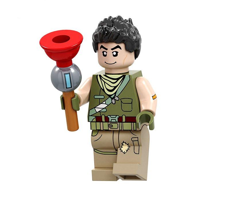 Default Skin No.2 Minifigures Lego Compatible Fortnite Toy