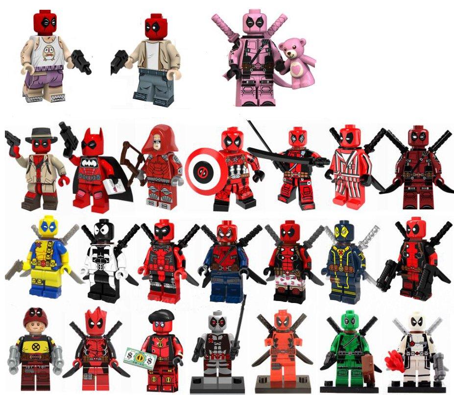 24pcs Deadpool Duck Minifigures Lego Compatible Deadpool set