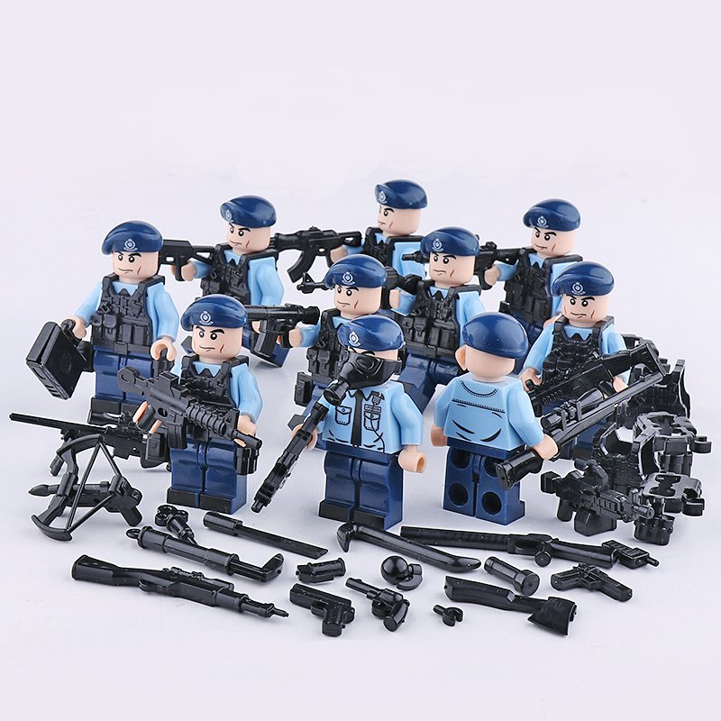 City Police PTU Minifigures Lego Compatible Toy