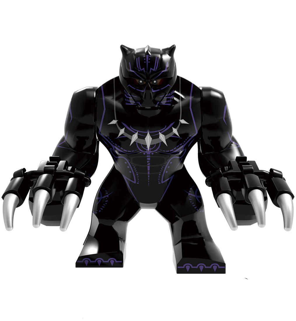 Big Black Panther Minifigures Lego Compatible Super Heroes Toy
