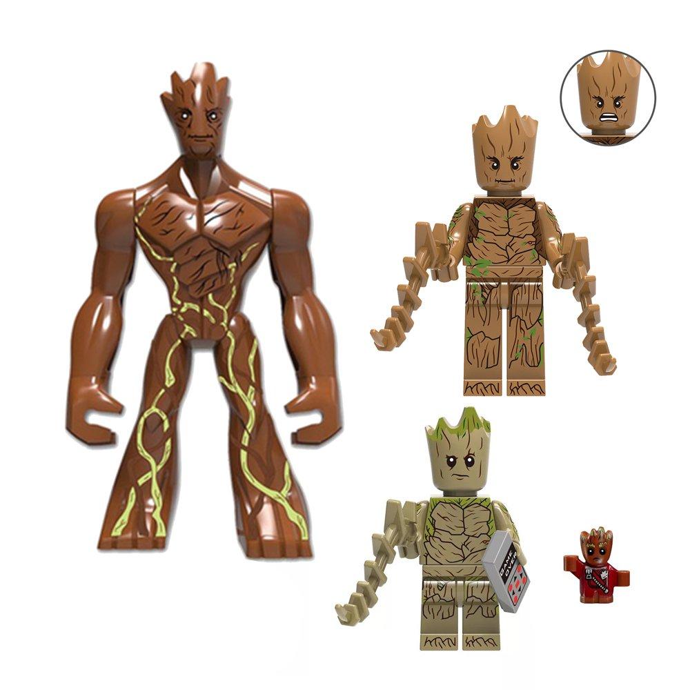 3pcs Groot Minifigures Lego Compatible Avengers Toy