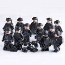 12pcs City Black S.W.A.T. Minifigures Lego Compatible police Sets