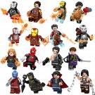 16pcs Iron Man Blacklash Doctor Strange Nebula Minifigures Lego Compatible Avengers sets