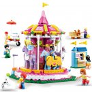 Merry-go-round building block Toy Lego Minifigures Compatible City Amusement park sets
