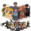 WW2 Deutschland Japan Italiana Soldiers Minifigures Lego Compatible Toy