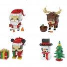 Santa Claus Christmas Snowman Christmas elk Minifigures Lego Compatible Christmas Gift