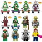 12pcs Teenage Mutant Ninja Turtles Minifigures Leo Raph Mike Don Lego Compatible Toy