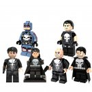 6pcs Punisher Minifigures Lego Compatible Avengers Super Heroes Toy