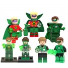 7pcs Green Lantern Minifigures Lego Compatible DC Super Heroes Toy