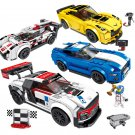 4pcs Cars Race Car building block Toy Lego Cars for Sale Compatible