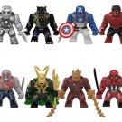 8pcs Big figs Super Heroes 2 Minifigures Lego Compatible Avengers infinity War
