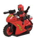 Deadpool motorcycle Minifigures Lego Compatible Deadpool set