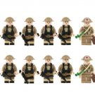 World War II UK soldier Minifigures Lego Compatible Toy