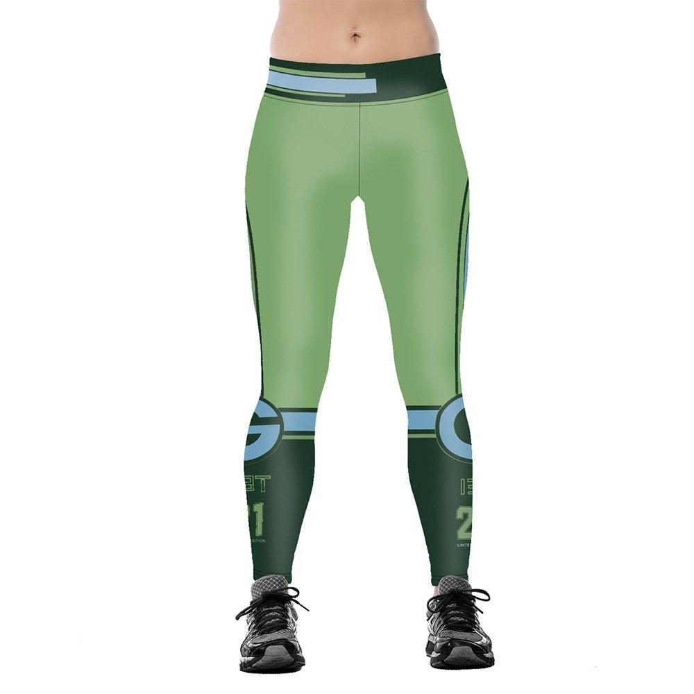 Green Bay Packers 21 Legings Yoga Pants for Woman
