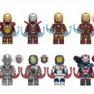 2019 Iron Man set MK17 Iron Legions Iron Patriot Minifigures Lego Compatible Iron Man