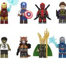 New The Avengers ste Iron Man Captain America Odinson Minifigures Lego Compatible Toy