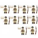 WW2 Japan soldier set Minifigures Lego Compatible Military soldier