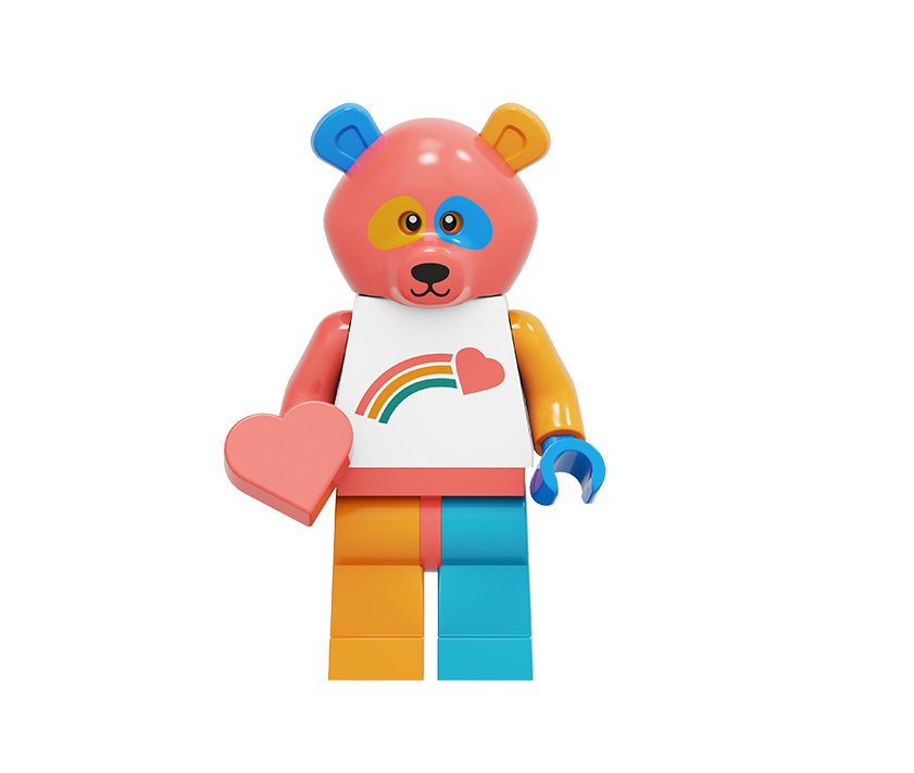 Bear Costume Guy Minifigures Lego Compatible Minifigures Series 19