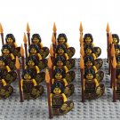Medieval Female Warrior Minifigures Lego Compatible Medieval Knights set