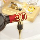 50th Gold Anniversary Rhinestone Wine Stopper