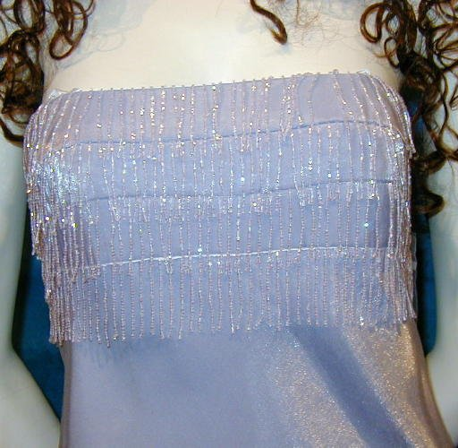 SOLD Stunning NEW Faviana Formal Gown Beaded With Wrap Prom Wedding  12
