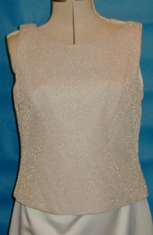 Lovely New Mob Bridesmaid Cruise Formal Gold/Ivory Sz12 #570